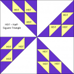 Pieced Pinwheels Quilt Block Diagram Free Pattern at QuiltTherapy.com!