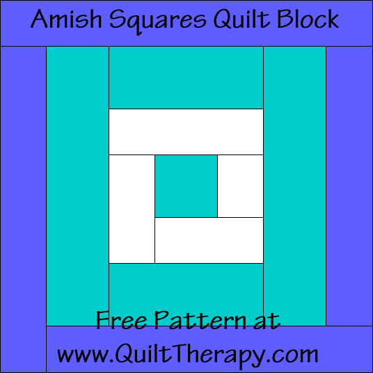 Amish Squares Quilt Block Free Pattern at QuiltTherapy.com!