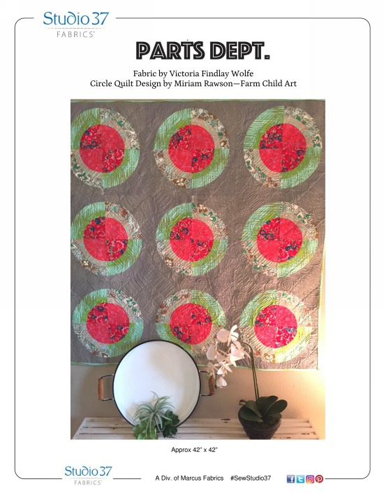 """""""Circle Quilt"""" Free Baby Quilt Pattern designed by Miriam Rawson from Marcus Fabrics"""