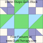 Dublin Steps Quilt Block Free Pattern at QuiltTherapy.com!
