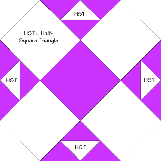 Endless Squares Quilt Block Diagram Free Pattern at QuiltTherapy.com!