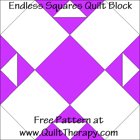 Endless Squares Arrow Quilt Block Free Pattern at QuiltTherapy.com!