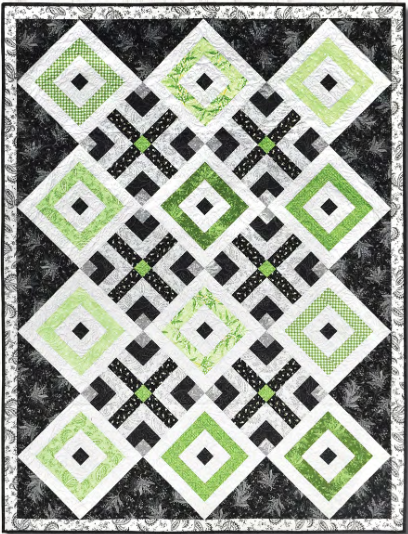 """Greenery"" Free Quilt Pattern designed by Rachel Shelburne from E.E. Schenck Company"
