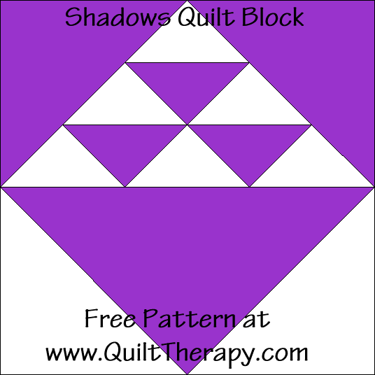 Shadows Quilt Block Free Pattern at QuiltTherapy.com!