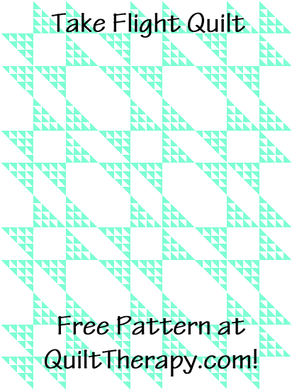 """Take Flight Quilt a Free Pattern for a 36"""" x 48"""" quilt at QuiltTherapy.com!"""