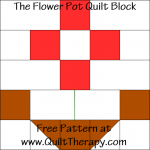 The Flower Pot Quilt Block Free Pattern at QuiltTherapy.com!