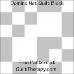 """Domino Net Quilt Block Free Pattern for a 12"""" quilt block at QuiltTherapy.com!"""