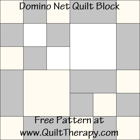 Domino Net Quilt Block Free Pattern at QuiltTherapy.com!