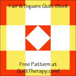 """Fair & Square Quilt Block is a Free Pattern for a 12"""" quilt block at QuiltTherapy.com!"""