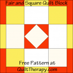 Fair and Square Quilt Block Free Pattern at QuiltTherapy.com!