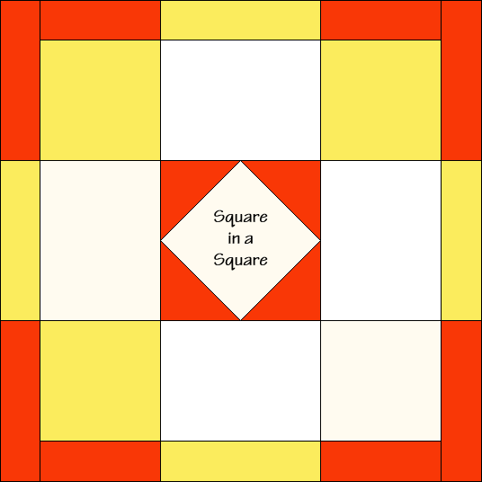 Fair and Square Quilt Block Diagram Free Pattern at QuiltTherapy.com!