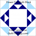 "Flower Pot Quilt Block Free Pattern for a 12"" quilt block at QuiltTherapy.com!"