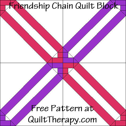 Friendship Chain Quilt Block Free Pattern at QuiltTherapy.com!