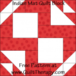 Indian Mat Quilt Block Free Pattern at QuiltTherapy.com!