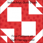 """Indian Mat Quilt Block is a Free Pattern for a 12"""" quilt block at QuiltTherapy.com!"""