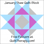 """January Thaw Quilt Block Free Pattern for a 12"""" quilt block at QuiltTherapy.com!"""