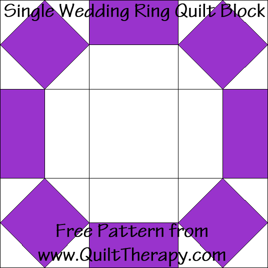 Single Wedding Ring Quilt Block Free Pattern at QuiltTherapy.com!