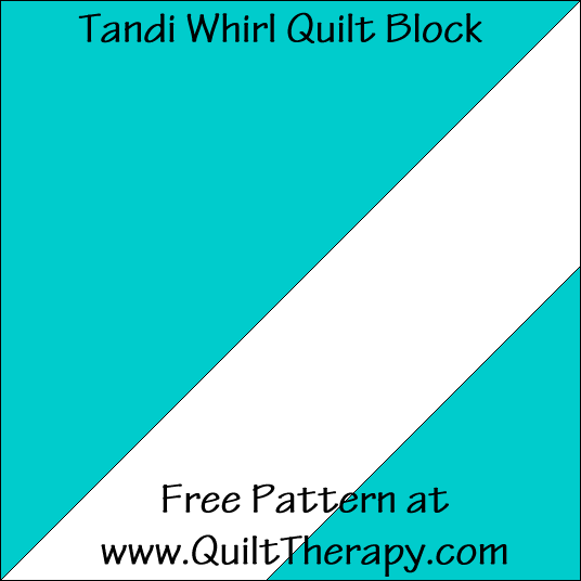 Tandi Whirl Quilt Block Free Pattern at QuiltTherapy.com!