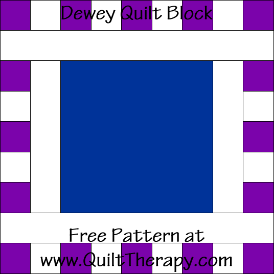 Dewey Quilt Block Free Pattern at QuiltTherapy.com!