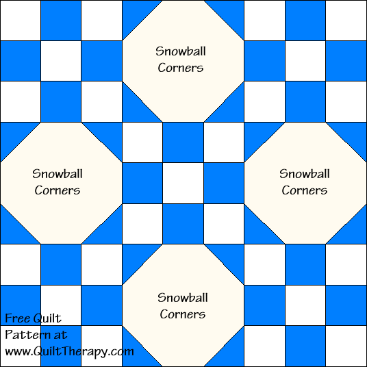 Flagstones Quilt Block Diagram Free Pattern at QuiltTherapy.com!
