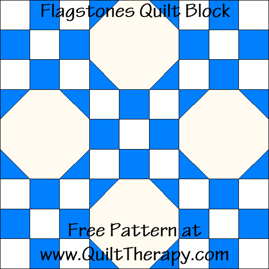 Flagstones Quilt Block Free Pattern at QuiltTherapy.com!
