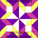 Hopscotch Quilt Block Free Pattern at QuiltTherapy.com!