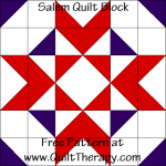 Salem Quilt Block Free Pattern at QuiltTherapy.com!
