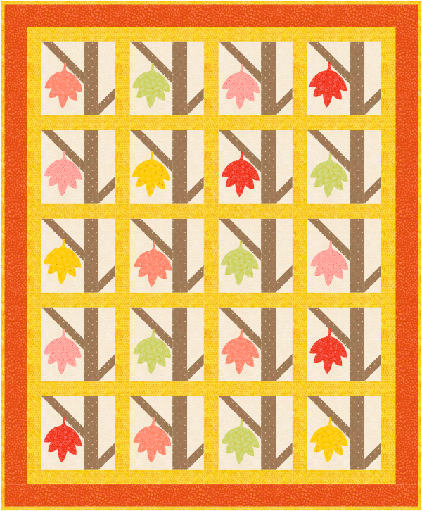 August Quilt Dash Free Custom Designed Quilt Pattern for Completing the Quilt Dash