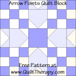Arrow Points Quilt Block Free Pattern at QuiltTherapy.com!