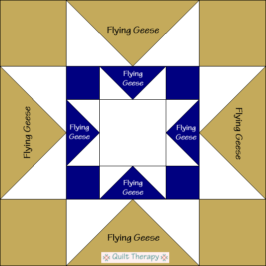 Double Star Quilt Block Diagram Free Pattern at QuiltTherapy.com!