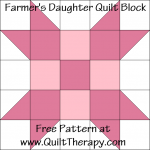 Farmer's Daughter Quilt Block Free Pattern at QuiltTherapy.com!