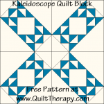 Kaleidoscope Quilt Block Free Pattern at QuiltTherapy.com!