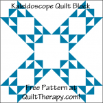 """Kaleidoscope Quilt Block is a Free Pattern for a 12"""" quilt block at QuiltTherapy.com!"""