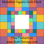 Medallion Square Quilt Block Free Pattern at QuiltTherapy.com!