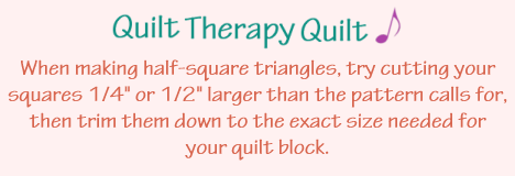 Quilt Therapy Quilt Note