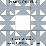 Beggar's Quilt Block Free Pattern at QuiltTherapy.com!