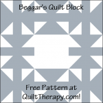 """Beggar's Quilt Block is a Free Pattern for a 12"""" quilt block at QuiltTherapy.com!"""