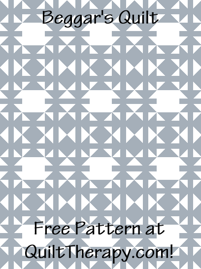 """Beggar's Quilt is a Free Pattern for a 36"""" x 48"""" quilt at QuiltTherapy.com!"""