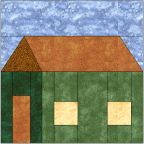 """Box House Quilt Block"" Free Pattern designed by Kim Noblin from Block Central"