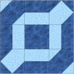 """Chain Link Quilt Block"" Free Pattern designed by Kim Noblin from Block Central"