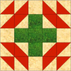 """Christmas Star Quilt Block"" Free Pattern designed by Kim Noblin from Block Central"