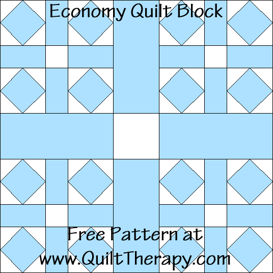 Economy Quilt Block Free Pattern at QuiltTherapy.com!