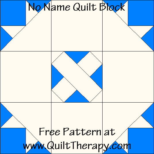 No Name Quilt Block Free Pattern at QuiltTherapy.com!