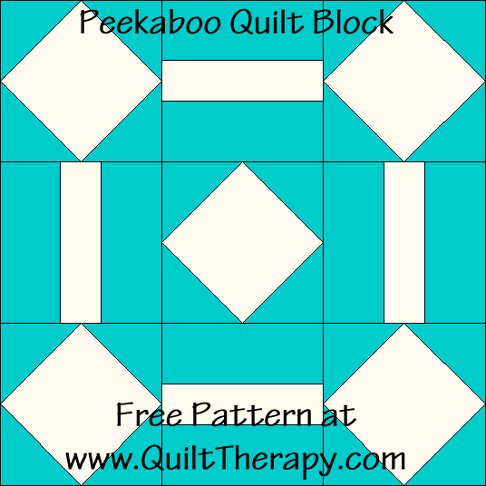 Peekaboo Quilt Block Free Pattern at QuiltTherapy.com!