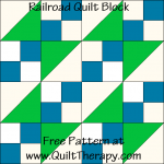 Railroad Quilt Block Free Pattern at QuiltTherapy.com!
