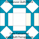 Blockhouse Quilt Block Free Pattern at QuiltTherapy.com!