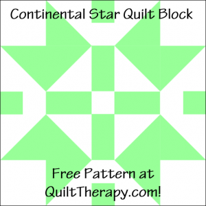 """Continental Star Quilt Block Free Pattern for a 12"""" quilt block at QuiltTherapy.com!"""