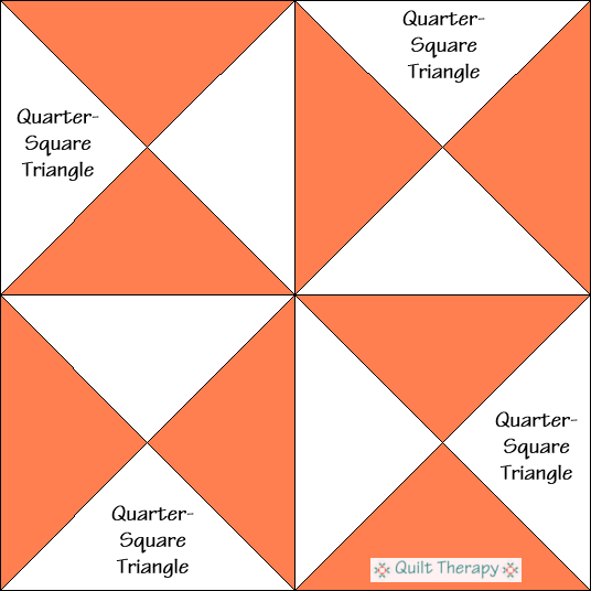Pork and Beans Quilt Block Diagram Free Pattern at QuiltTherapy.com!