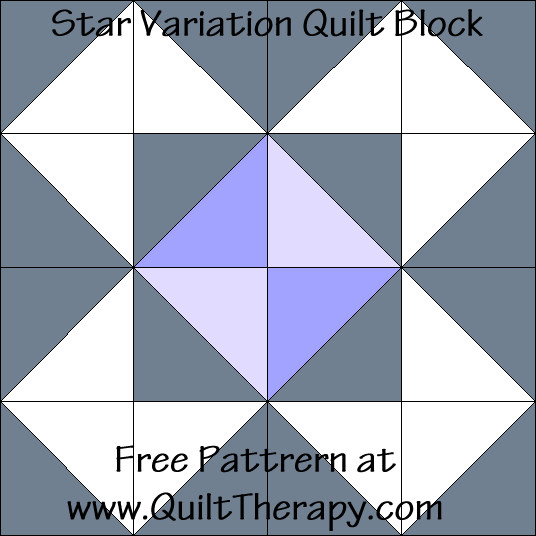 Star Variation Quilt Block Free Pattern at QuiltTherapy.com!