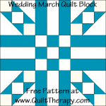 Wedding March Quilt Block Free Pattern at QuiltTherapy.com!